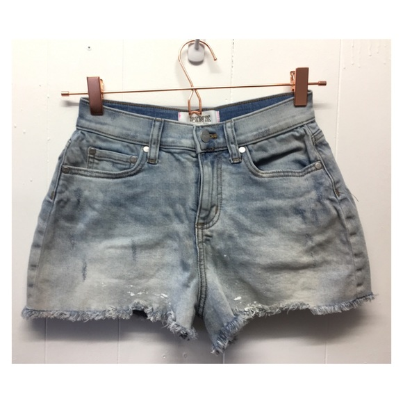 710461b760 PINK Victoria's Secret Shorts | Pink Vs Denim Hirise Cut Off Fringed ...